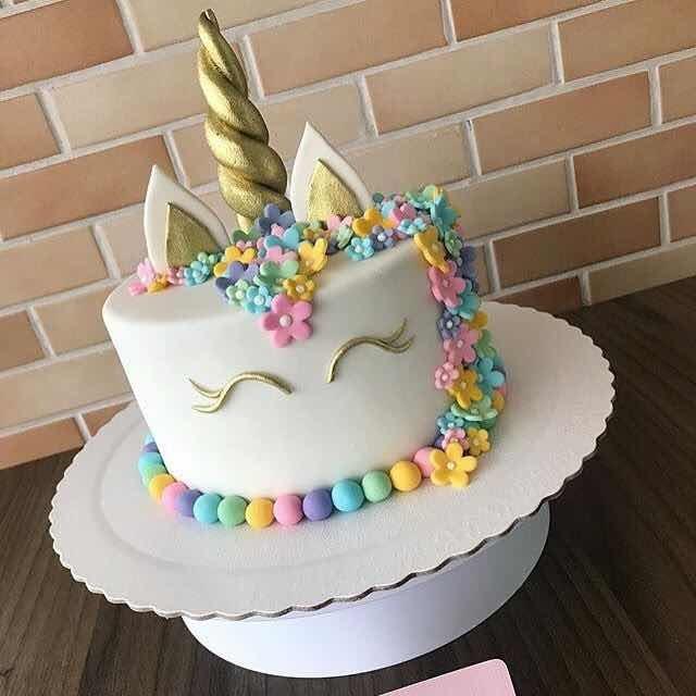 Unicornio Decorativo Para Pastel Decoraciones De Fondant