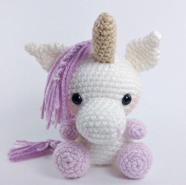 Unicornio Bebé, Tutorial de Amigurumi Universe. Ganchillo fácil ... | 647x651