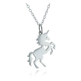 Unicornio En Plata 950 Dije Collar(hacemos Su Diseño)