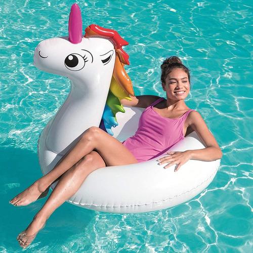unicornio flotador salvavidas 136cm bestway jugueterialeon
