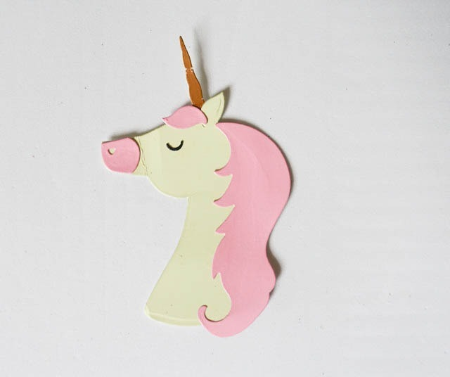 Unicornio formas en goma eva cartulina decoraci n souvenir - Formas goma eva ...