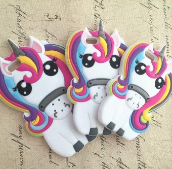 Unicornio Funda iPhone 8 Kawaii Cute Mujer Unisex Pony - $ 100.00