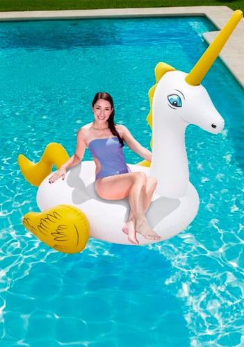 unicornio grande inflable flotador pileta bestway 41107 full