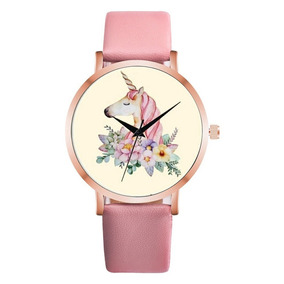 Unicornio Imitación Agua Correa De Cuero Reloj Moda Durable
