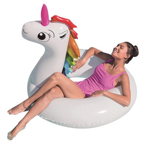 unicornio kawai flotador salvavidas 136cm bestway pileta