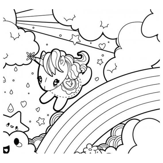 Unicornio Libro Colorear O Crayolas Bolo Recuerdo - $ 8.50 en ...