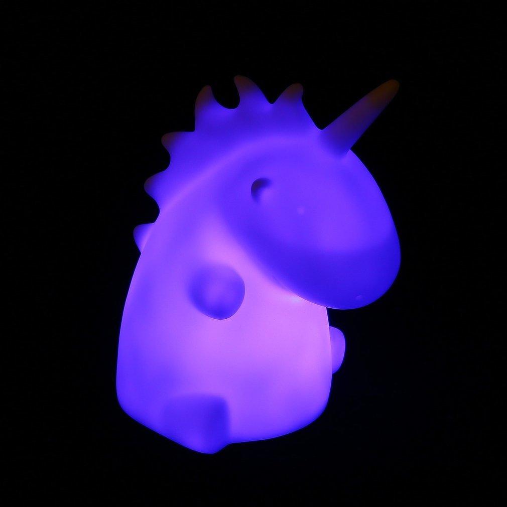 Unicornio Lampada Noite Led Luz Humor Luz Dos Desenhos Anima R