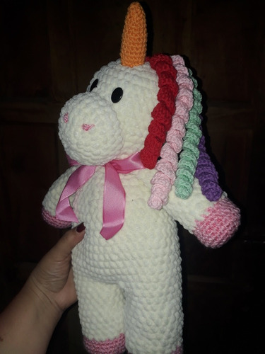 unicornio mediano muy suave afelpado