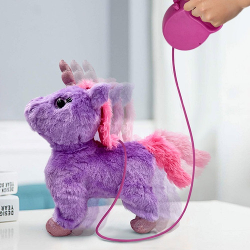 unicornio peluche control remoto sonidos y movimiento rf 010