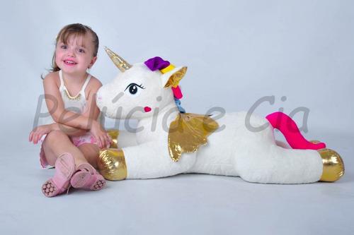 unicórnio pelúcia 90cm almofada bebe fofinho