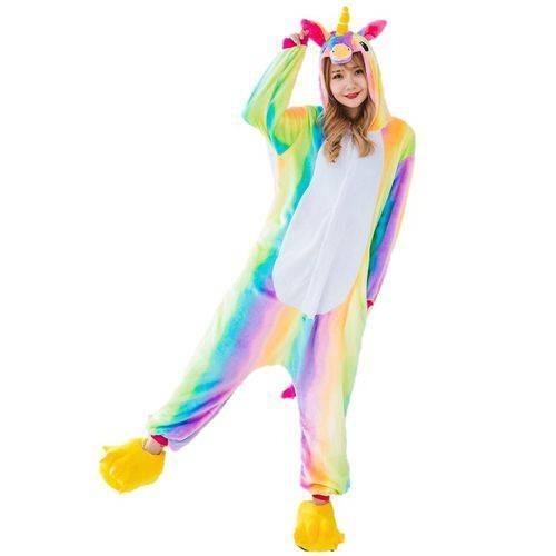 unicórnio pijama kigurumi cosplay - brinde necessaire