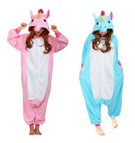 6592aa012f56ee Unicórnio Pijama Macacão Kigurumi Adulto Unisex Cosplay