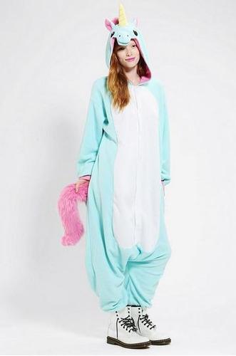 unicórnio pijama macacão kigurumi pronta entrega com asa