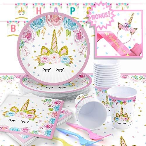 Unicornio Princesa Party Pack Juego De Suministros Para F