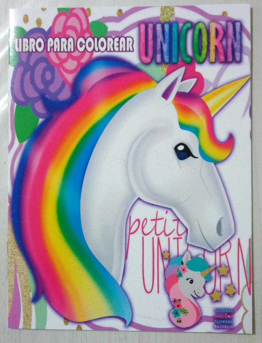Unicornio Rainbow Paq 6 Libros Fiesta Iluminar Colorear - $ 45.00 en ...