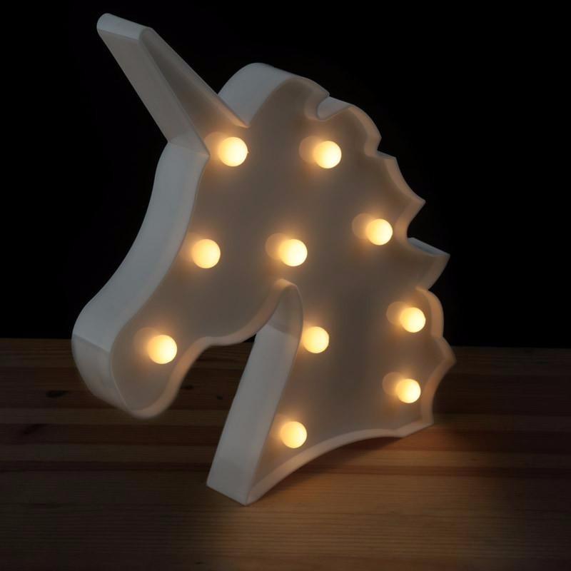 Unicornio temas lumin ria abajur led mesa parede for Chambre unicorn