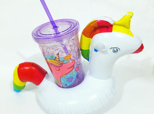 unicornio vaso infable gel frio termico deco fiesta oficina