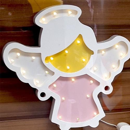 unicornio velador lampara luz led candy bar mdf