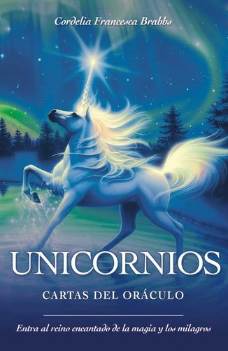 unicornios cartas del oráculo, manual y 44 cartas