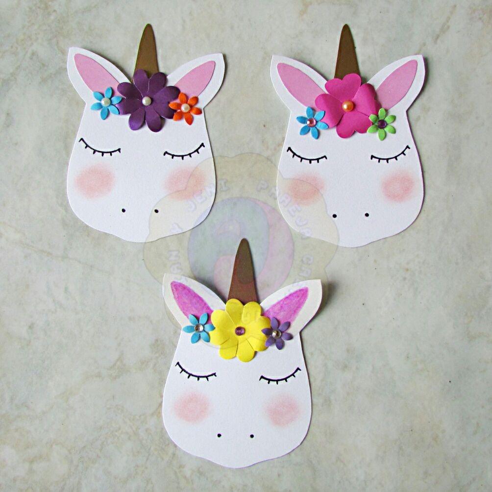 Unicornios decorativos para scrapbook y manualidades bs en mercado libre - Imagen de manualidades ...