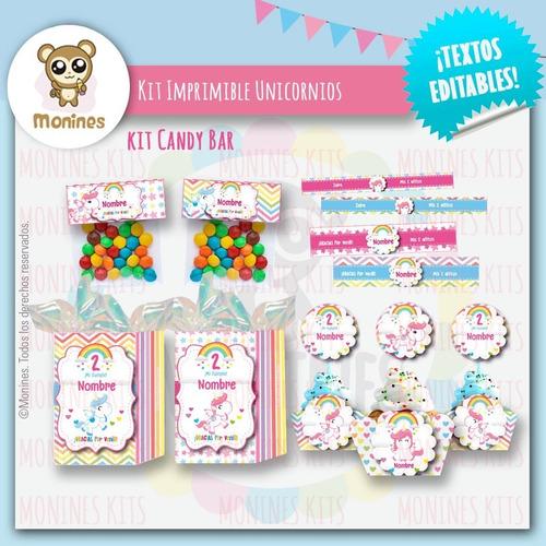 unicornios kit imprimible cumpleaños ¡con texto editable!