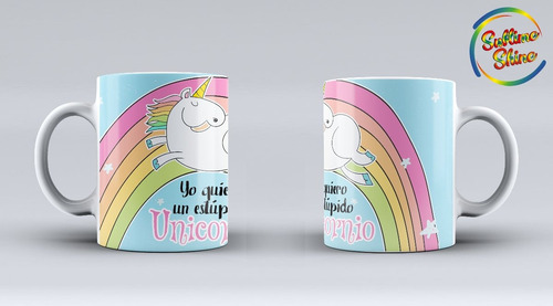 unicornios souvenir tazas x 20 unidades plasticas