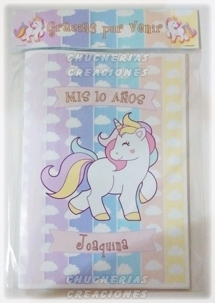Unicornios X 30 Cuadernos Para Colorear O Anotadores 15x21cm