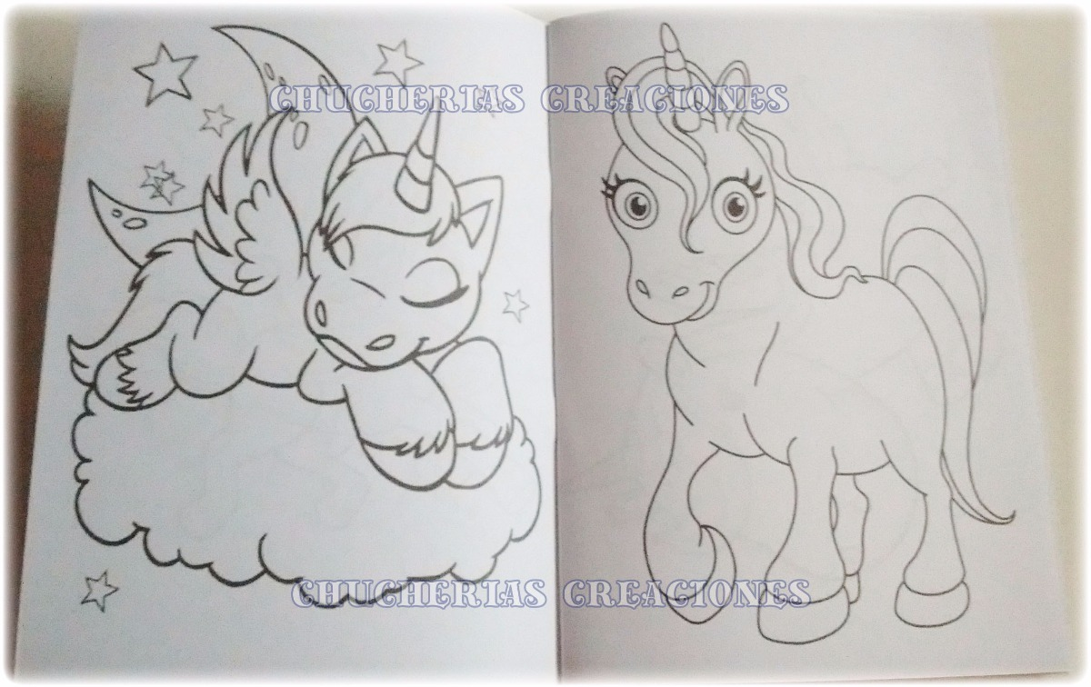 Unicornios X 30 Cuadernos Para Colorear O Anotadores 15x21cm - $ 574 ...