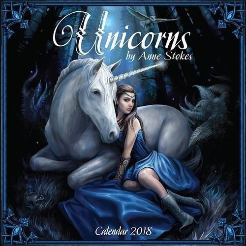 unicorns by anne stokes - 2018 - calendário - unicórnios