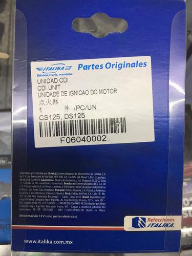unidad cdi original italika cs125 ds125 gts175 ws150 vitalia