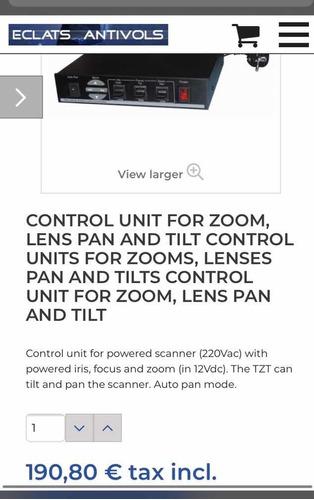 unidad de control de cámaras seguridad zoom e inclinación