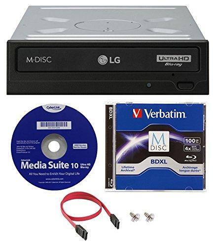 Unidad De Disco Blu-ray Bdxl Blu-ray Lg Wh16ns60 16x (con Re