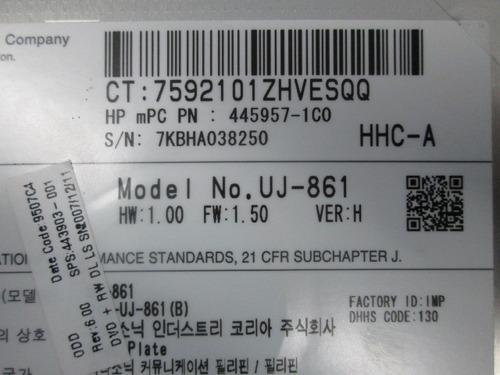 unidad de dvd hp compaq 6715b 6515b uj-861