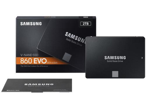 unidad de estado solido samsung 860 evo, 2tb, sata 6.0 gb/s,