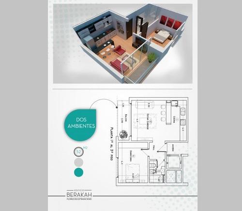 unidad disponible. departamento con dormitorio abalconado