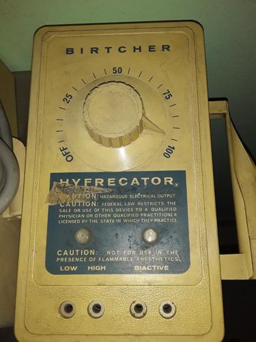 unidad electroquirúrgica birtcher modelo hyfrecator 701