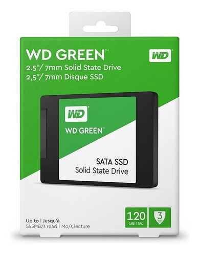unidad en estado sólido - 120 gb western digital green