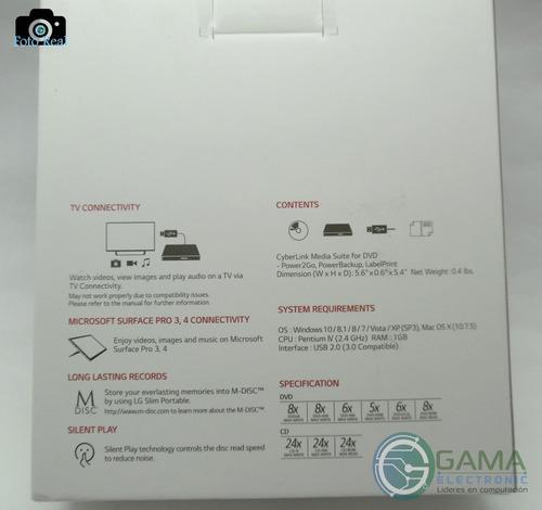 unidad externa lg de dvd, ultra slim portable gp65nb60