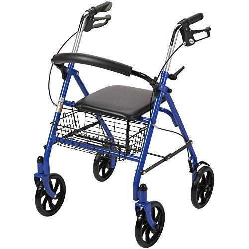 unidad médica andador walker de cuatro ruedas con doble