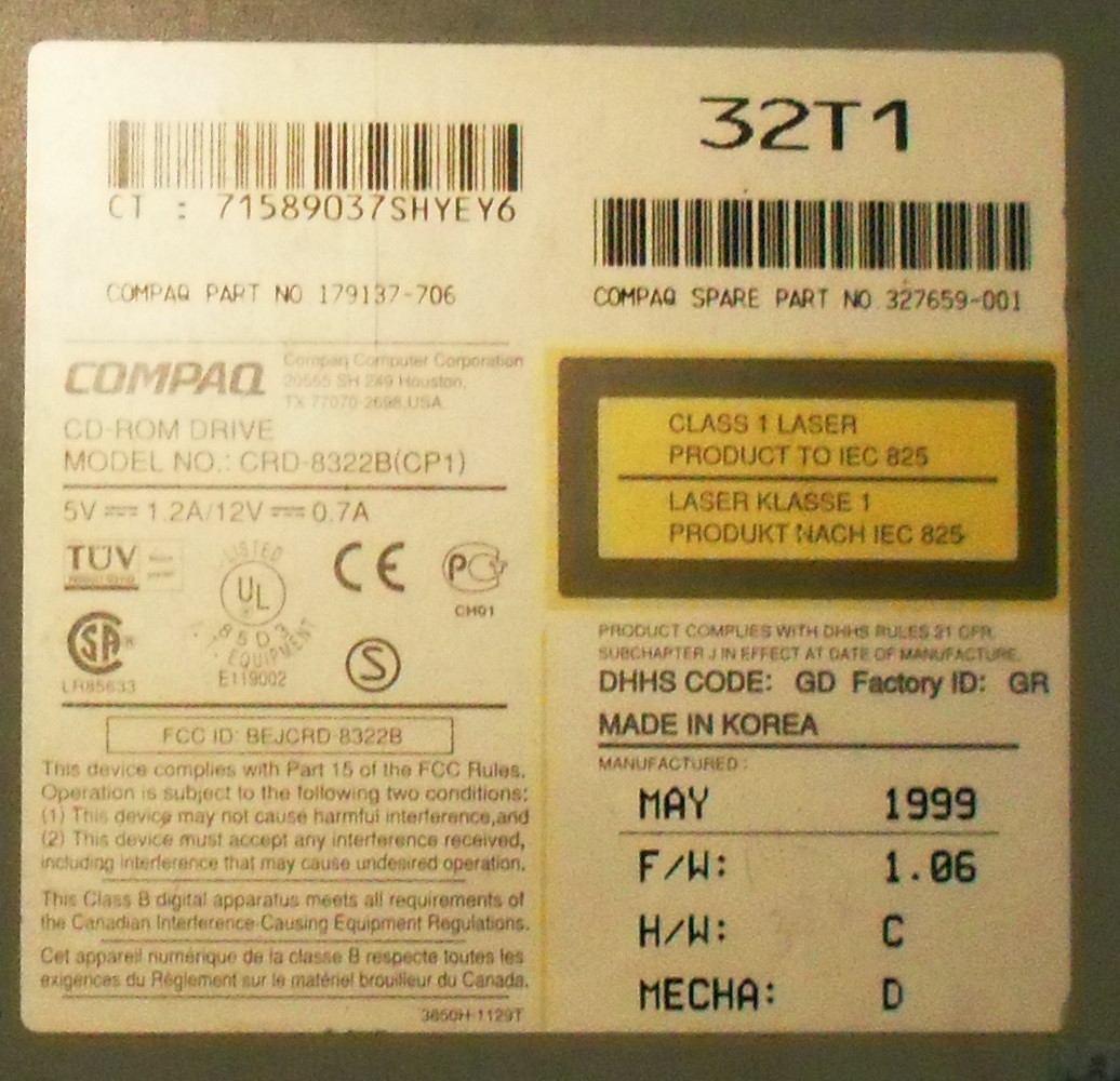 COMPAQ CRD-8322B WINDOWS 8 X64 DRIVER DOWNLOAD