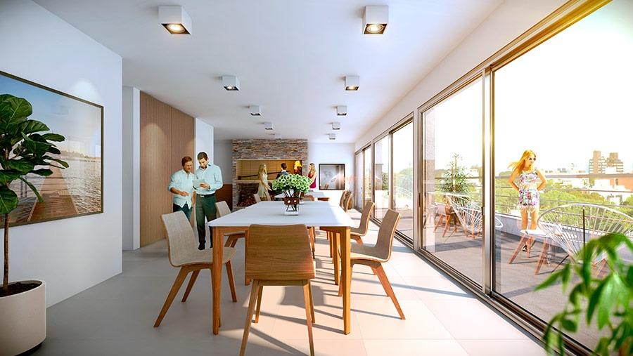unidades de monoambiente y 1 dormitorio en edificio maui