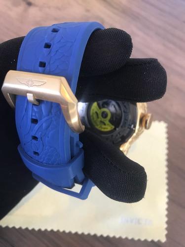 unidades de relogio invicta s1 hally yakusa dourado azul