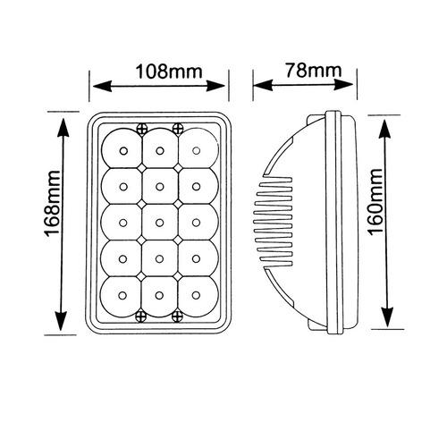 unidad/faro auxiliar 4656/4651 led c/base 10-30vcc alta/baja