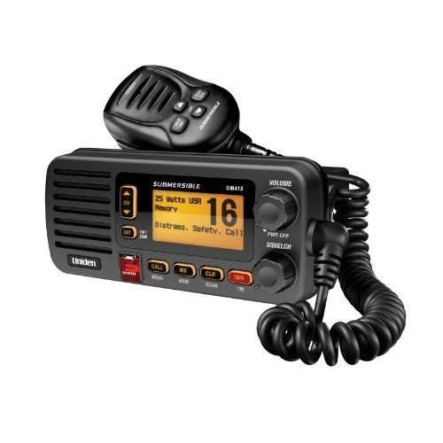 uniden um415bk radio vhf marino completo