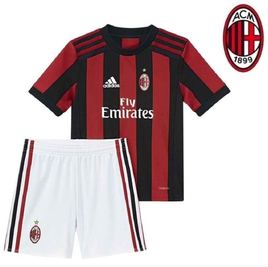 9862e5e6cb Uniforme Adulto Camisa E Shorts Milan Futebol Oficial adidas - R ...