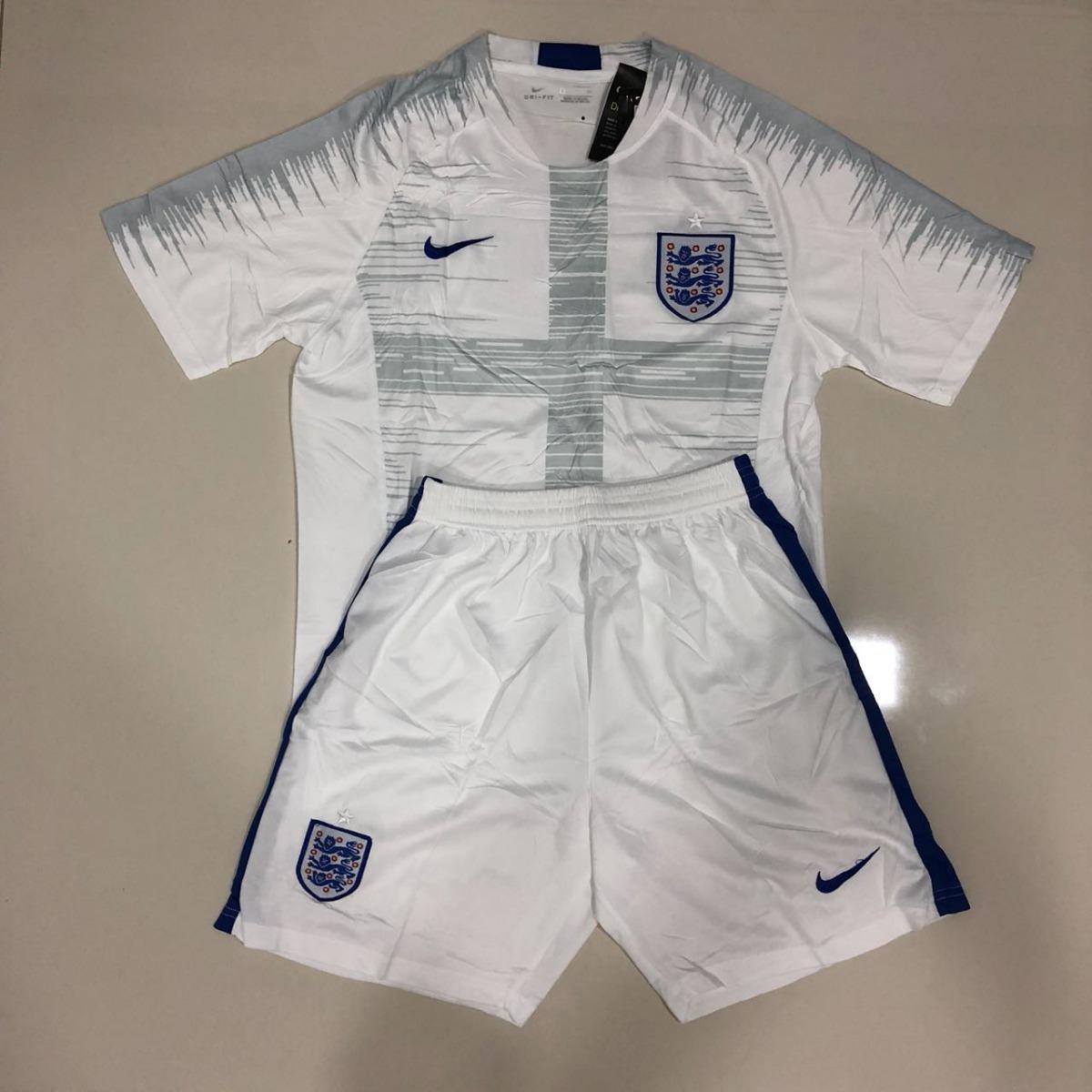 Uniforme Adulto Camisa E Shorts Seleção Inglaterra Copa 2018 - R ... 505ea7039ae2e