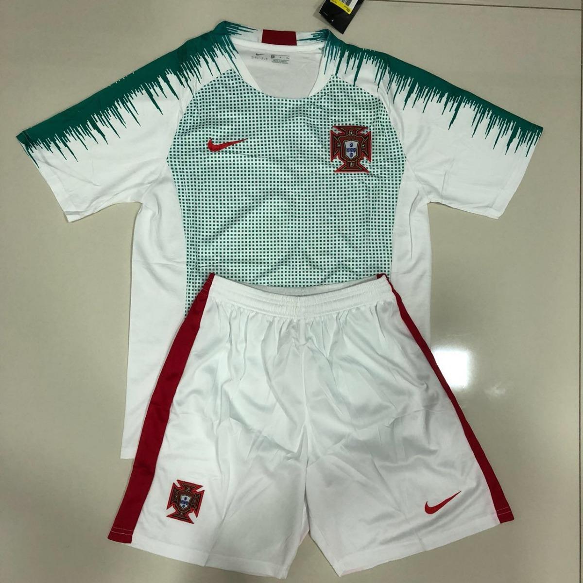 Uniforme Adulto Camisa E Shorts Seleção Portugal Copa 2018 - R  190 ... 0f18069a96b77