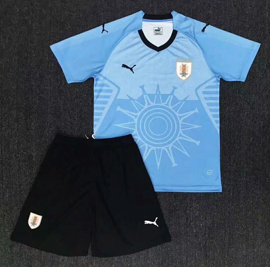 Uniforme Adulto Camisa E Shorts Seleção Uruguai Copa 2018 - R  190 ... af19788274ad4