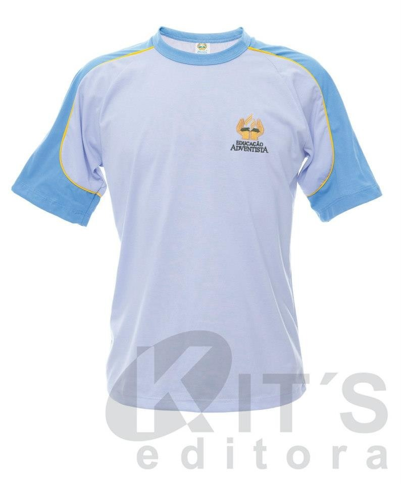 Uniforme Adventista Fundamental - Camiseta Manga Curta - Mi - R  23 ... 6c737e180b1a5