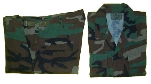 uniforme americano mimetizado woodland